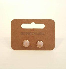 Go Dutch Label Oorbellen Rhodonite 14K Goud - Go Dutch Label