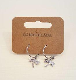 Go Dutch Label Oorbellen Hangers Libelles Zilver - Go Dutch Label