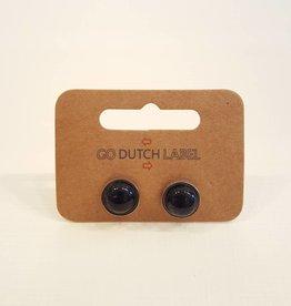 Go Dutch Label Oorbellen Blue sand stone Zilver - Go Dutch Label