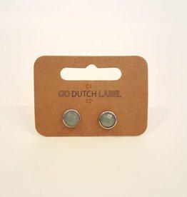 Go Dutch Label Oorbellen Green Aventurine Zilver - Go Dutch Label