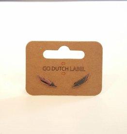 Go Dutch Label Oorbellen Veertjes Zilver - Go Dutch Label