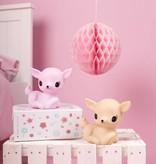 A Little Lovely Company Nachtlampje Hertje roze - A Little Lovely Company