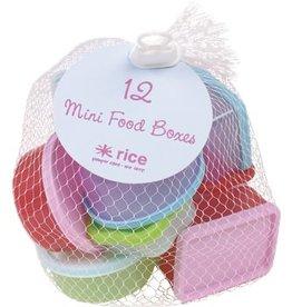 Rice Set van 12 snack doosjes 7x5x3cm - Rice