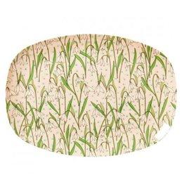 Rice Bord Ovaal Melamine met Sneeuwklok print - Rice