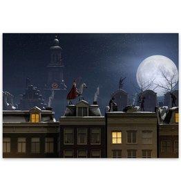 Ansichtkaart Sinterklaas Nacht