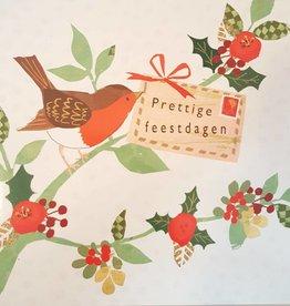 Kerstkaarten 10 stuks voor amnesty international - Prettige Feestdagen - vogeltje