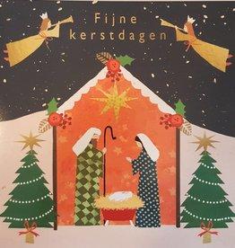 Kerstkaarten 10 stuks voor amnesty international - Fijne Kerstdagen - Kerststal