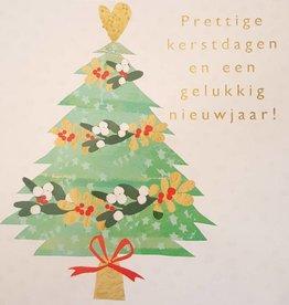 Kerstkaarten 10 stuks voor amnesty international - Prettige kerstdagen en een gelukkig nieuwjaar! - kerstboom