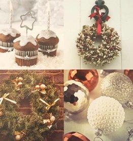 Kerstkaarten 10stuks prettige kerstdagen en een gelukkig nieuwjaar - kerstcakes