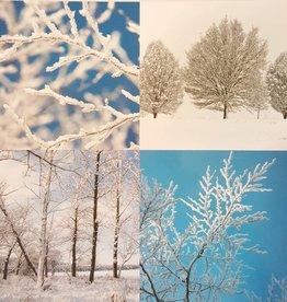 Kerstkaarten 10stuks prettige kerstdagen en een gelukkig nieuwjaar - sneeuwlandschap