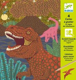 Djeco Kraskaarten Dinosaurussen +7jr - Djeco