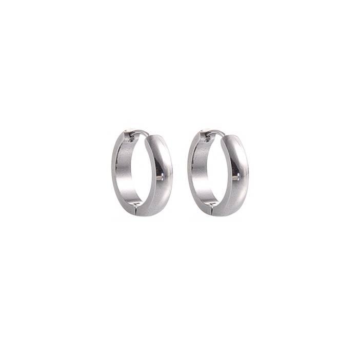 zilveren ringetjes oorbel
