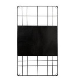VT Wonen Memo Bord Magnetisch Zwart 60x105cm - VT Wonen