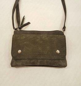 Tasje met schouder- en heupband donker grijs