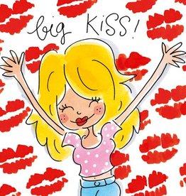 Blond Amsterdam Big Kiss! - Wenskaart Blond Amsterdam