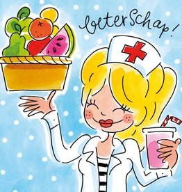 Blond Amsterdam Beterschap! - Wenskaart Blond Amsterdam