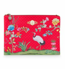Pip Studio Platte Toilettas groot Floral Good Morning rood - Pip Studio