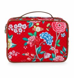 Pip Studio Beauty Case 2-zijdig groot Floral Good Morning rood - Pip Studio