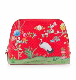 Pip Studio Toilettas groot Floral Good Morning rood - Pip Studio