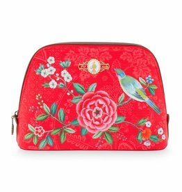 Pip Studio Toilettas medium Floral Good Morning rood - Pip Studio