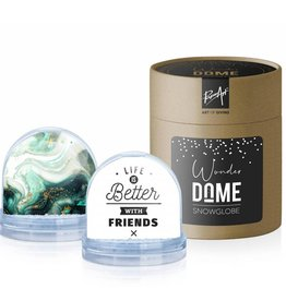 Wonder Dome Snowglobe Life is Better with Friends - Wonder Dome