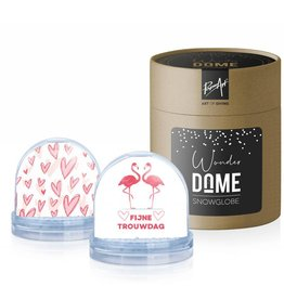 Wonder Dome Snowglobe Fijne Trouwdag - Wonder Dome