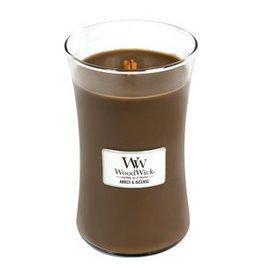 "WoodWick Kaars WoodWick ""Amber & Incense"" Large - WoodWick"