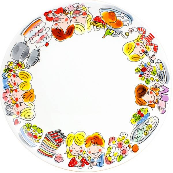 """Blond Amsterdam Dinerbord 26cm Life is a Party """"Even Bijkletsen"""" - Blond Amsterdam"""