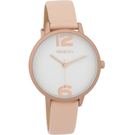 OOZOO Horloge powderpink/white/rose (alu) 36mm C9578 - OOZOO