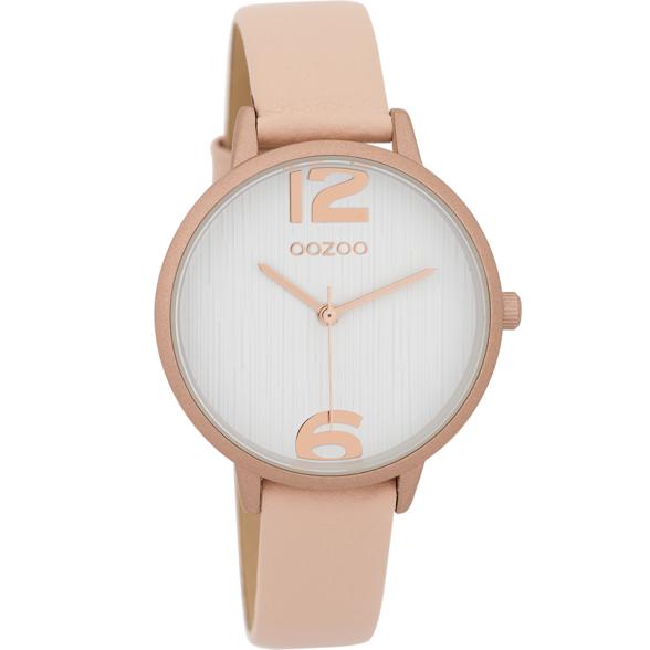 OOZOO Horloge powderpink/white/rose (alu) 36mm C9578 - OOZOO