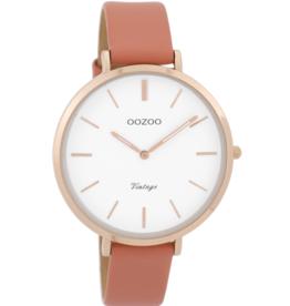 OOZOO Horloge Vintage Peach rosé 40mm C9388 - OOZOO