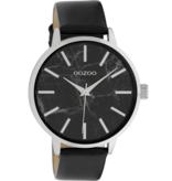 OOZOO Horloge black/ marble black 42mm C9758 - OOZOO