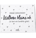 """Zoedt Kraam cadeaupakket """"Welkom kleine uk"""" - Zoedt"""
