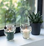 Home Society Kaars in glazen cactus groen - Home Society