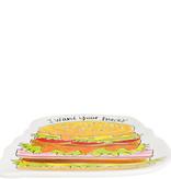 "Blond Amsterdam Hamburger Plate ""Snack"" - Blond Amsterdam"