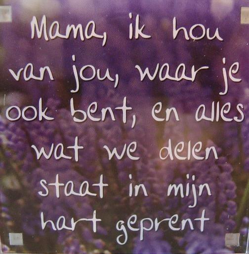mam ik hou van jou