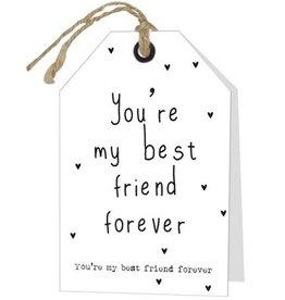Wenskaart You're my best friend forever - Rebel30