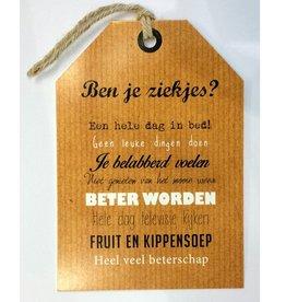Wenskaart Beter Worden - Rebel30
