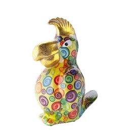 Pomme-Pidou Spaarpot Papegaai Coco Groen met cirkels - Pomme-Pidou