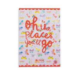 Rice Notitieboek A4 Oh, the Places You'll go - Rice