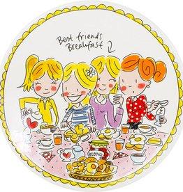 """Blond Amsterdam Ontbijtbord 22cm Girls """"Even Bijkletsen"""" - Blond Amsterdam"""