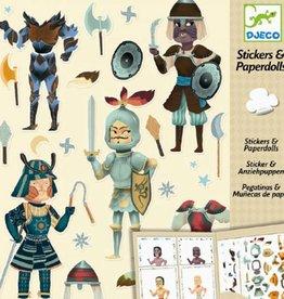 Djeco Stickers & Aankleedpoppen Ridders +6jr - Djeco