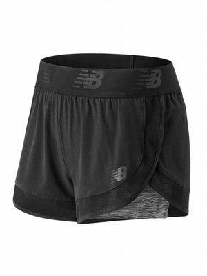 New Balance Short Mixed Media 2 in 1 Dames