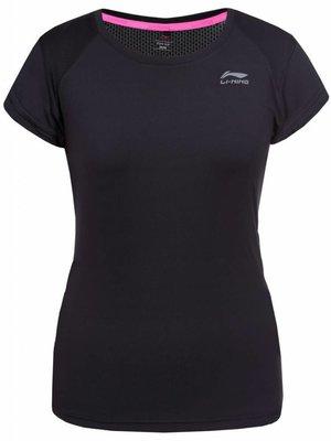 Li-Ning Zwart Hardloopshirt Dames