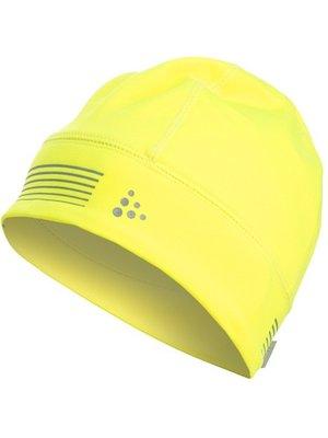 Craft Hardloopmuts geel