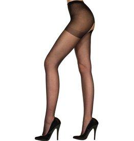 Music Legs Klassieke Panty Met Open Kruis - Zwart