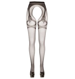 Cottelli Collection Kruisloze Panty Met Grote Opening - Zwart