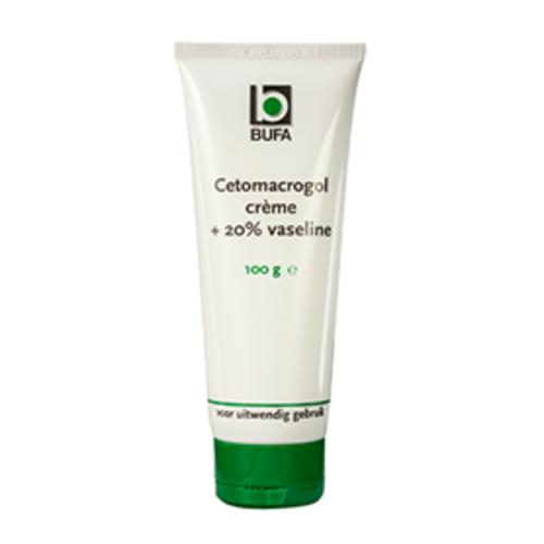 Bufa - Spruyt hillen Bufa Cetomacrogolcrème Met 20% Vaseline Tube In Doos (100g)