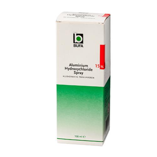 Bufa - Spruyt hillen Bufa Aluminiumhydroxychloride Oplossing 15% + Spray (100ml)