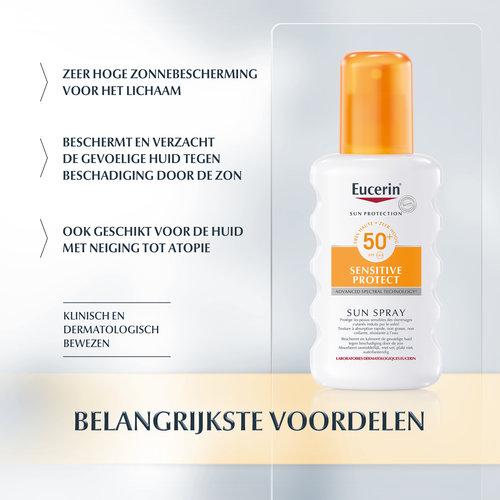 Eucerin Eucerin Sun  Sensitive Protect Spray Parfumvrij SPF 50+ (200ml)